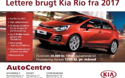 Danmarks måske bedste tilbud på lettere brugte Kia Rio hos AutoCentro
